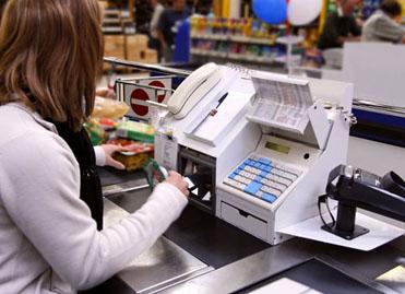 caisse de supermarché