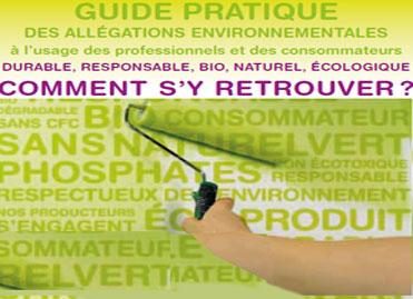 Guide pratique des allégations environnementales (couverture)