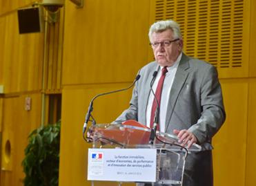 Christian Eckert au colloque du Conseil immobilier de l'Etat