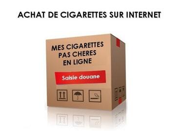 Visuel de la campagne de la Douane contre l'achat de cigarettes sur internet