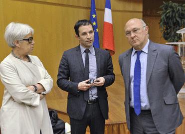 Christiane Demontès, Benoît Hamon, Michel Sapin