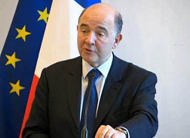 Pierre Moscovici à Bercy le 13 février 2014, lors de la remise du rapport 2013 de l'Observatoire des délais de paiement