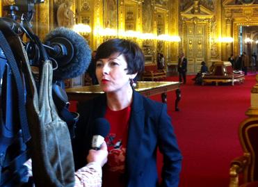 Carole Delga au Sénat, le 5 juin 2014