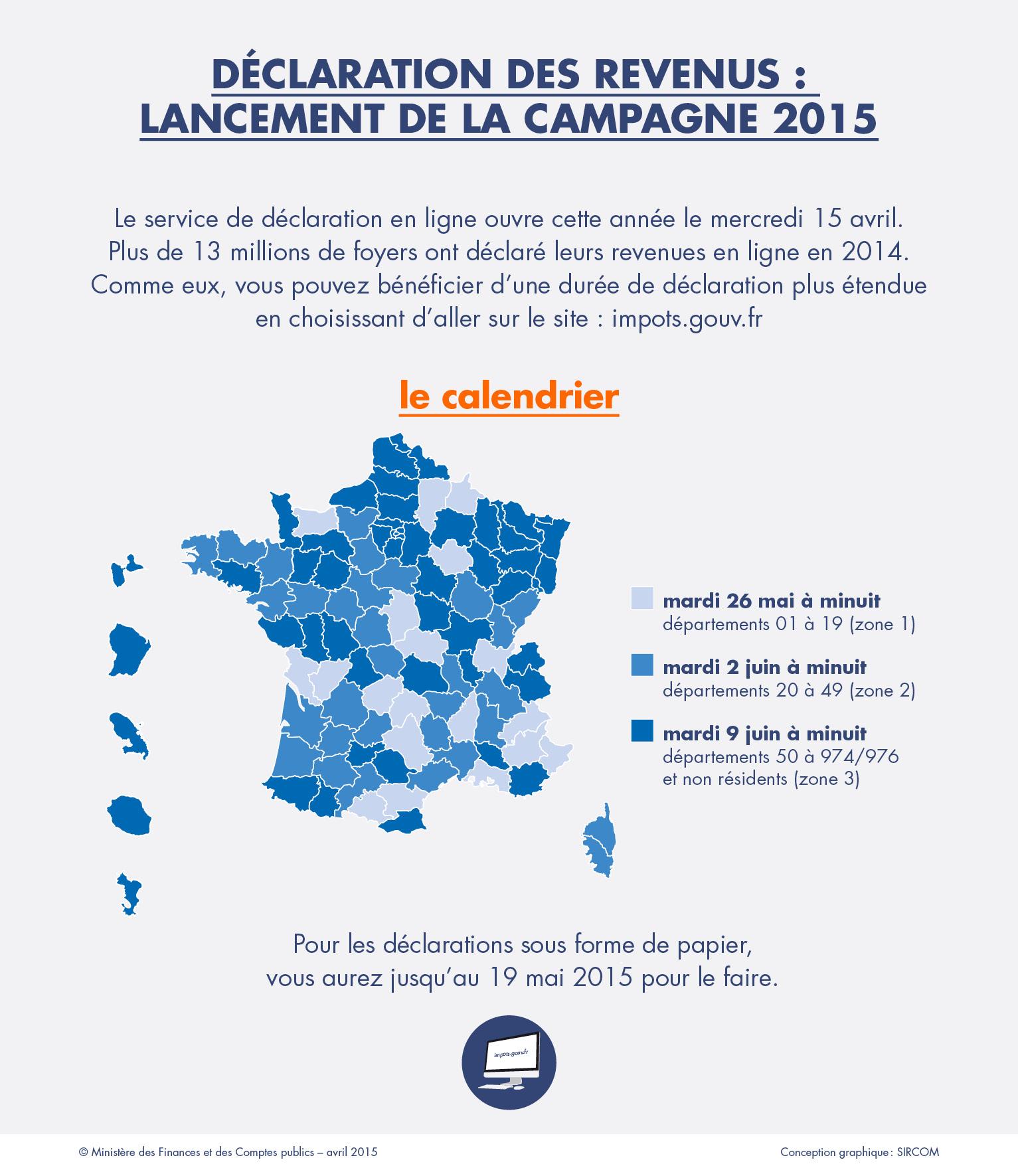 Impot Sur Les Revenus 2015 Ouverture Du Service De Declaration En