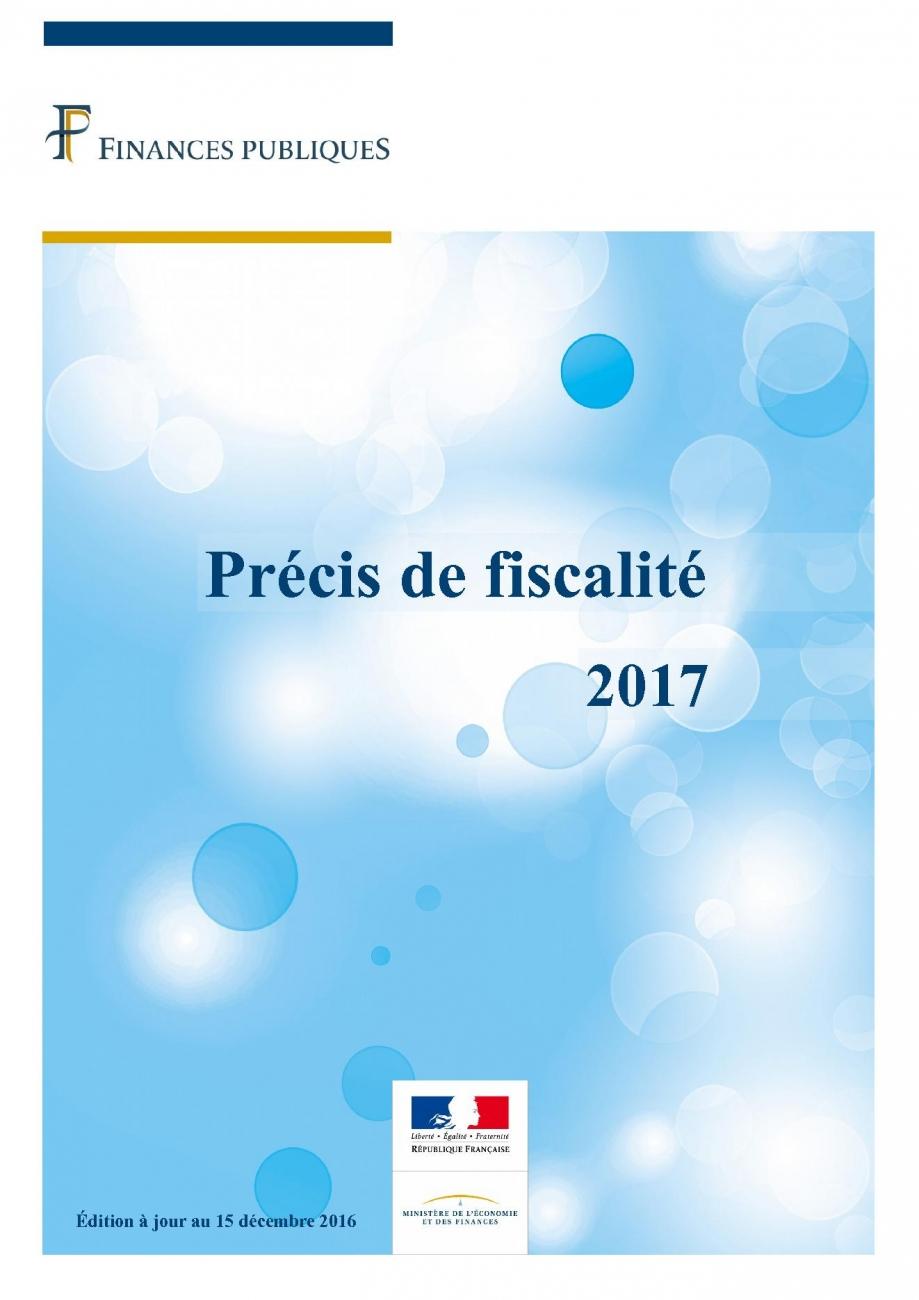 Précis de fiscalité 2017 - impots.gouv.fr