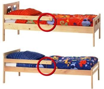 dgccrf avis de rappel de lits juniors kritter et sniglar par ikea le portail des minist res. Black Bedroom Furniture Sets. Home Design Ideas