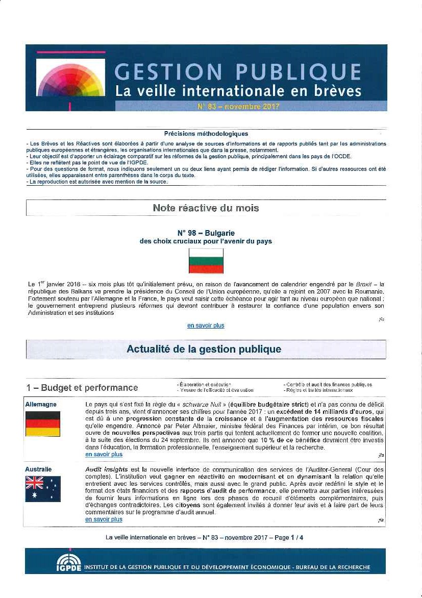 La veille internationale en breves