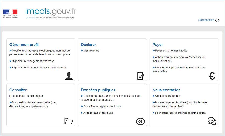 Impots.gouv.fr stock options