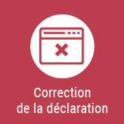 Correction de la déclaration