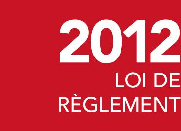 Loi de règlement 2012