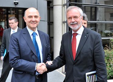 Pierre Moscovici et Werner Hoyer, Président de la BEI
