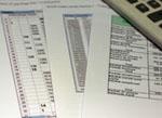 Fiches comptables et calculette
