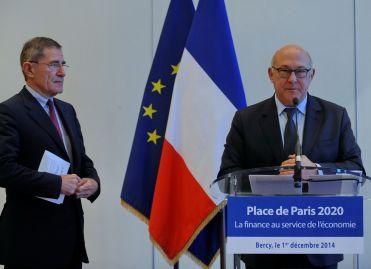 Conférence de presse de Michel Sapin Place de Paris 2020, le 1er décembre 2014