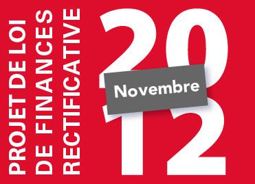 Troisième projet de loi de finances rectificative pour 2012