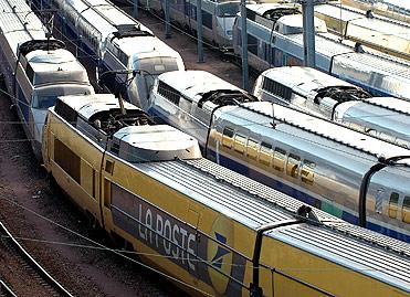 Trains de l'entreprise publique La Poste