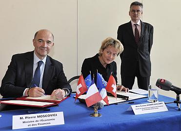 Signature de la convention fiscale franco-suisse sur les successions