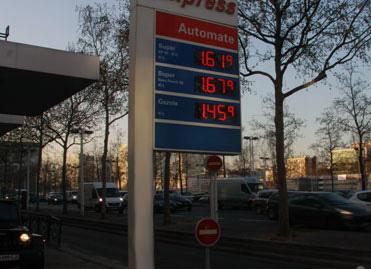 Affichage des prix dans une station service