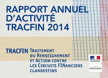 Image de couverture du rapport d'activité Tracfin 2014
